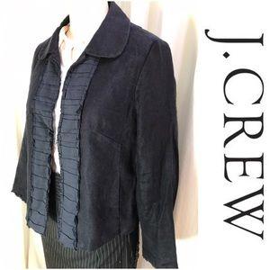 J Crew Navy Linen Jacket